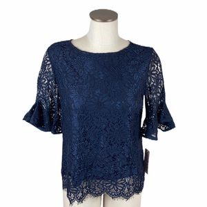 NWT Nanette Lepore Spring Fling Lace Blouse small